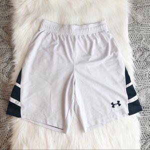 White & black under armer shorts